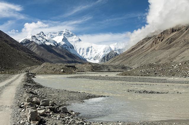 Tibet Everest Tepesi Fotografi